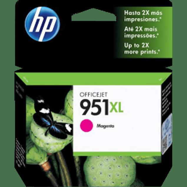 Cartucho de tinta color Magenta HP 951XL.