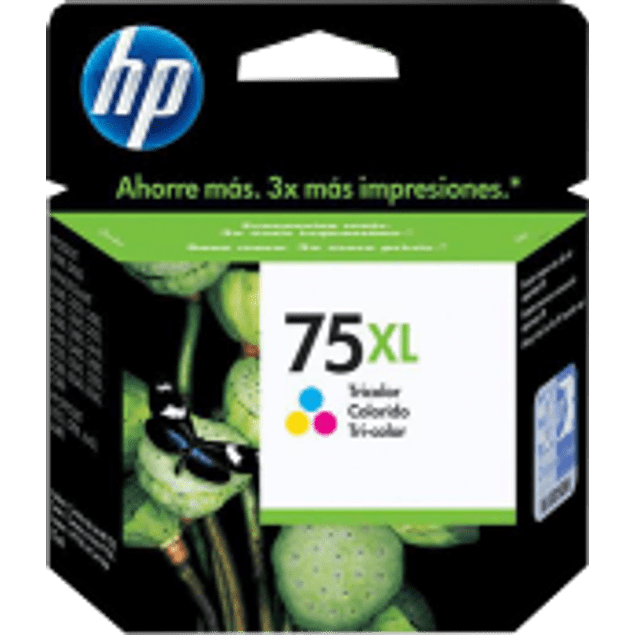 Cartucho de tinta tricolor HP 75XL