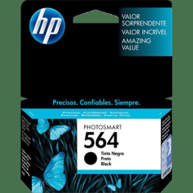Cartucho de tinta color Negro HP 564 rendimiento 250 páginas.