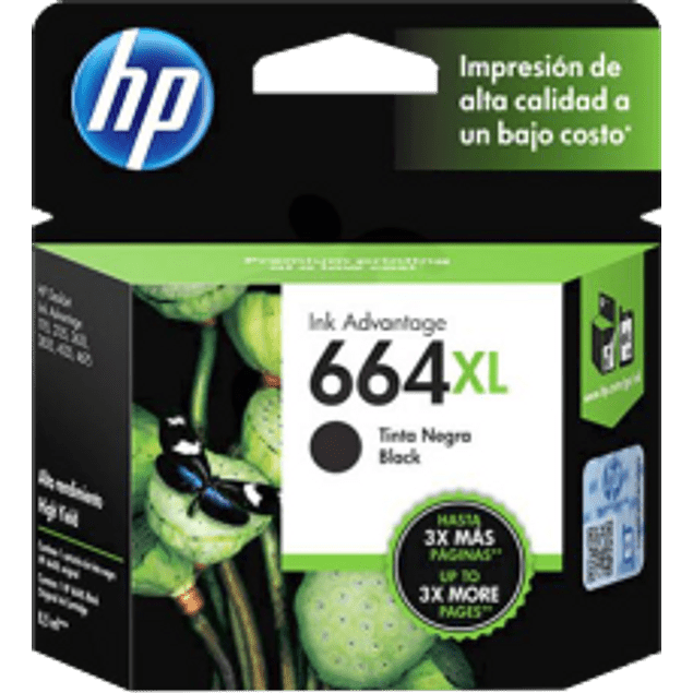 Cartucho de tinta color Negro HP664XL ink cartridge