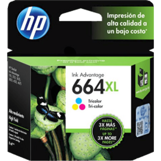 Cartucho de tinta Tricolor HP 664XL ink cartridge