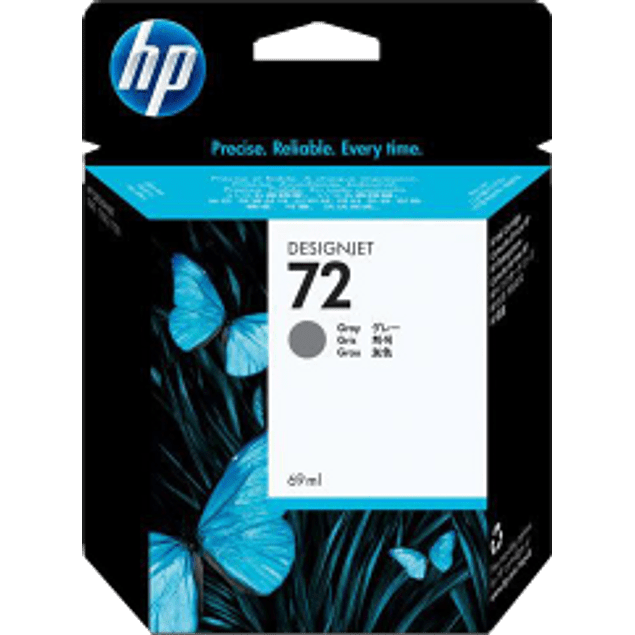 Cartucho de tinta color Gris HP 72 de 69 ml ink cartridge.