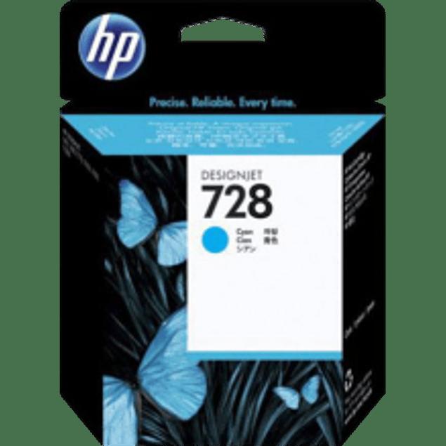 Cartucho de tinta color Cyan HP 728 con 40 ml designjet ink cartridge