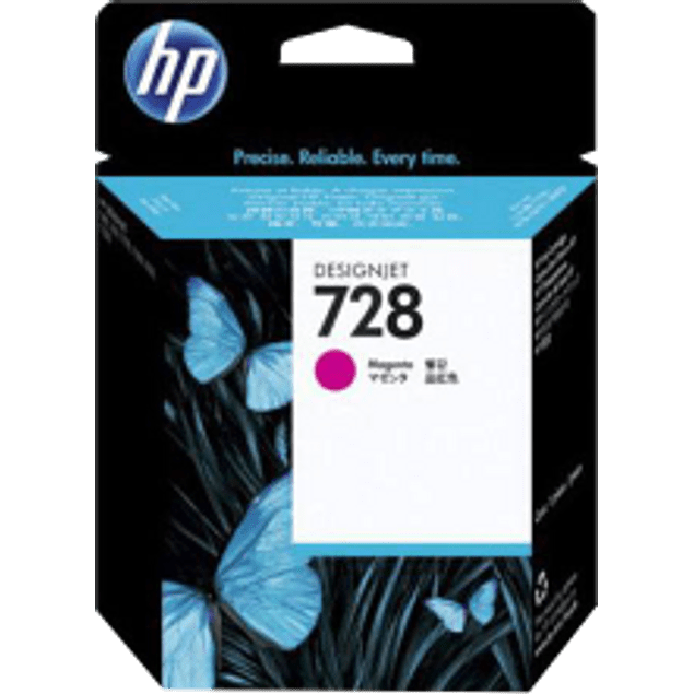 Cartucho de tinta color Magenta HP 728 con 40 ml designjet ink cartridge