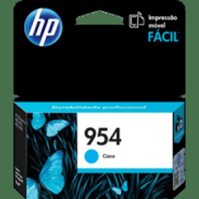 Cartucho de tinta color Cyan HP 954 estándar, rendimiento 700 páginas.