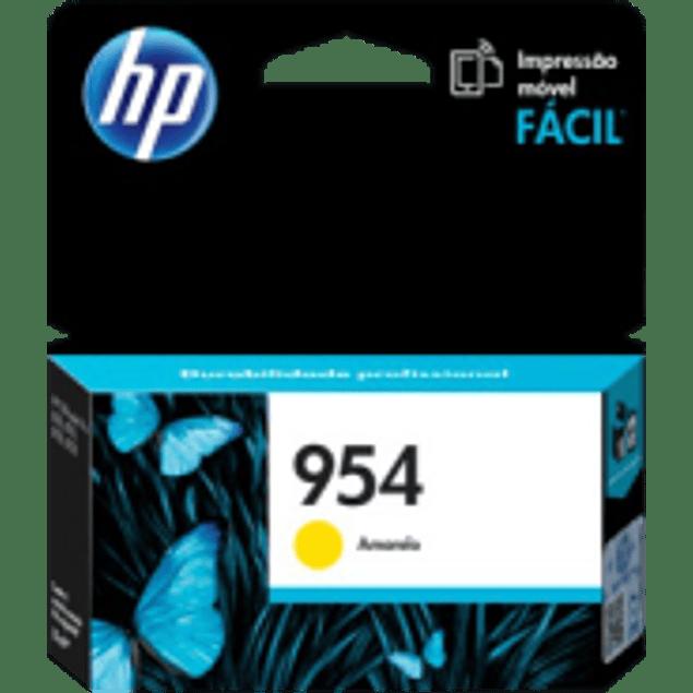 Cartucho de tinta color Yellow HP 954 estándar, rendimiento 700 páginas.
