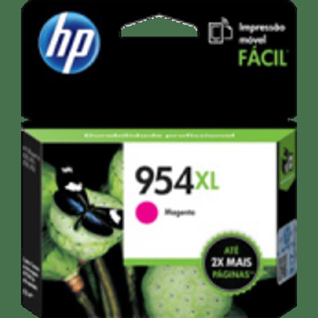 Cartucho de tinta color Magenta HP954XL de alto formato, rendimiento 1600 páginas.
