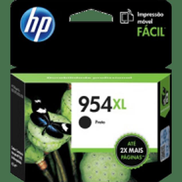 Cartucho de tinta color Negra HP954XL de alto formato, rendimiento 2000 páginas.
