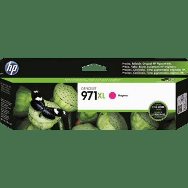 Cartucho de tinta color Magenta HP 971XL ink cartridge.