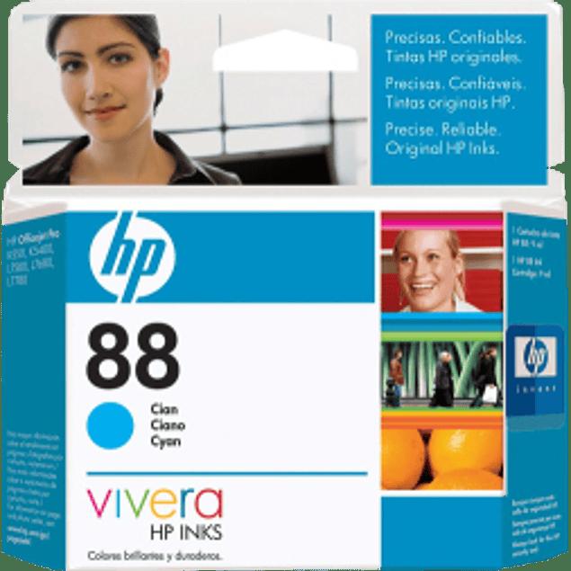 Cartucho de tinta color Cyan HP88