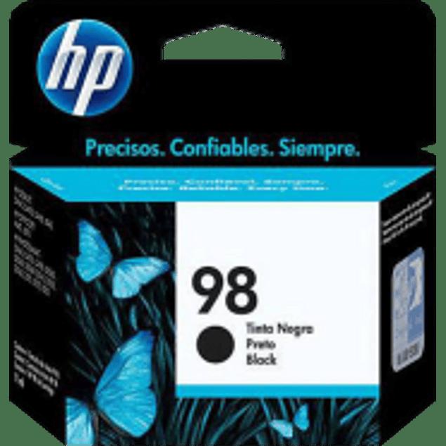 Cartucho de tinta color negra HP 98.