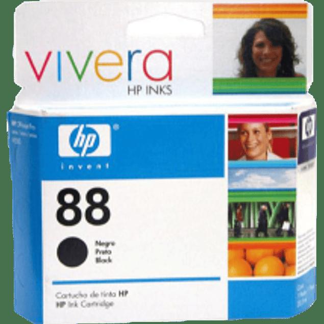 Cartucho de tinta color negra HP 88