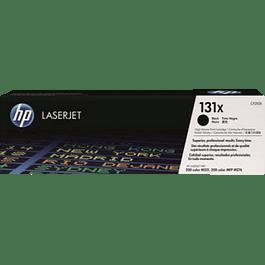 Tóner color Negro HP 131X, rendimiento de 2400 páginas.