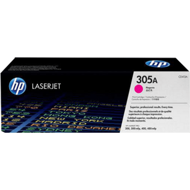 Tóner de tinta color Magenta HP 305A.