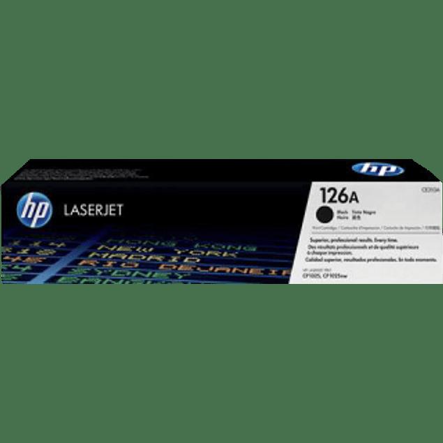 Tóner de tinta color Negro HP 126A