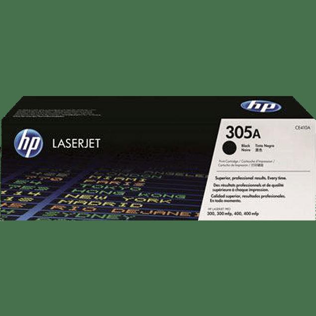Tóner de tinta color Negro HP 305A.