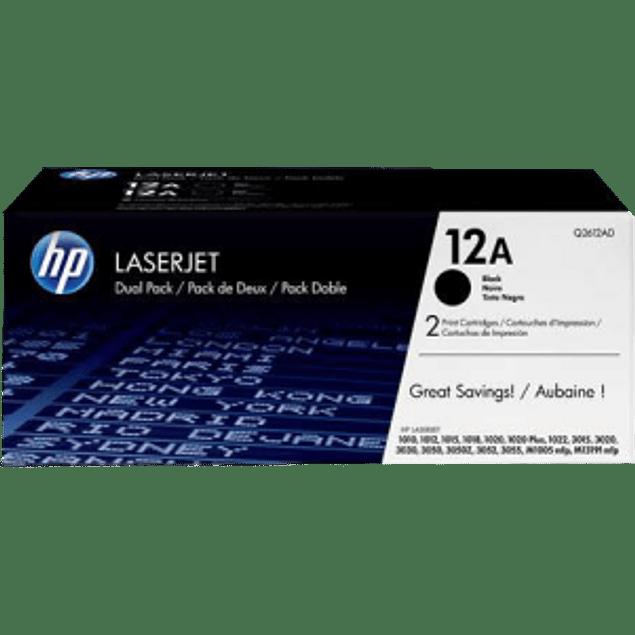 Tóner de tinta para LaserJet color negro HP 12A