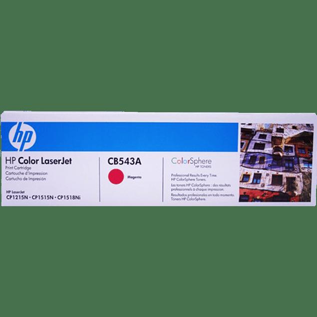 Tóner con tinta color Magenta HP CB543A