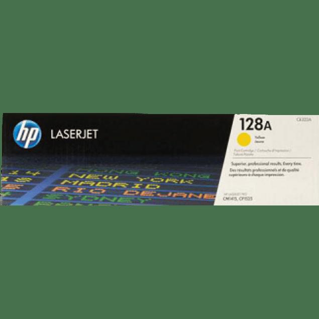 Tóner con tinta color Amarillo HP 128A