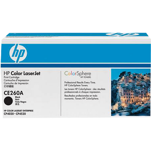 Tóner de tinta color Negra HP CE260A