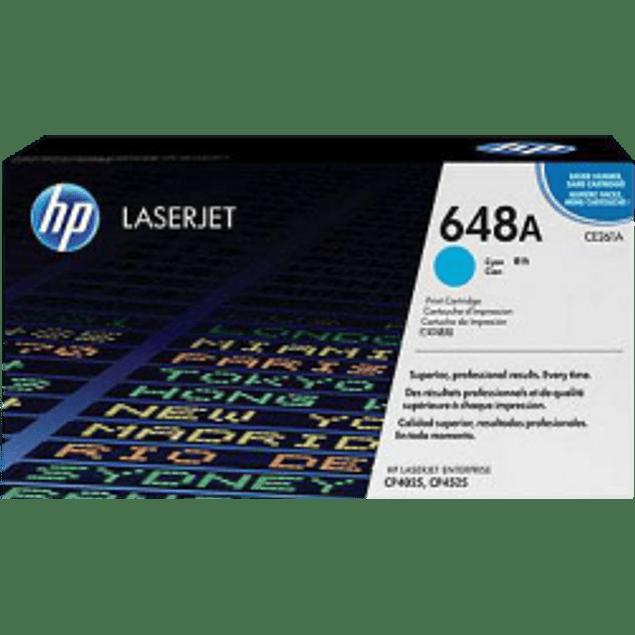 Tóner de tinta color Cyan HP 648A