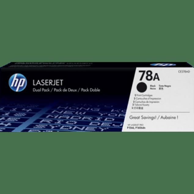 Tóner de tinta color Negro HP CE278AD