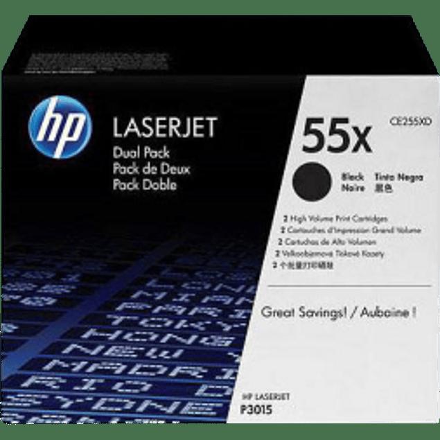 Tóner Dual de tinta color Negro HP CE255XD