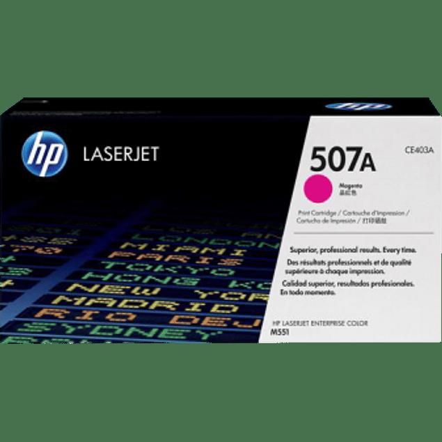 Tóner de tinta color Magenta HP CE403A para impresora LaserJet M551