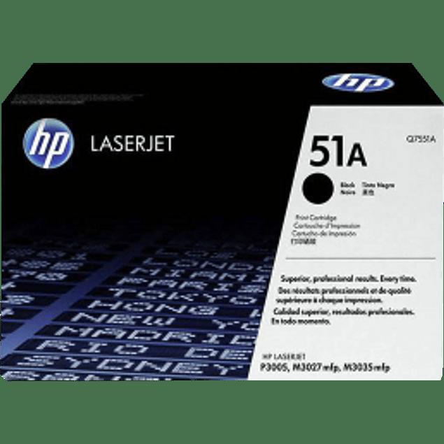 Tóner de tinta color Negro HP Q7551A