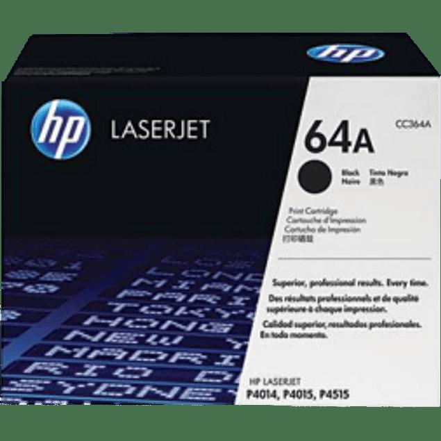 Tóner de tinta color Negro HP CC364A
