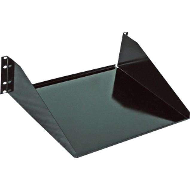 Charola color negro, de acero, para monitor