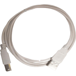 Cable USB A-/B 1.8 metros color gris.