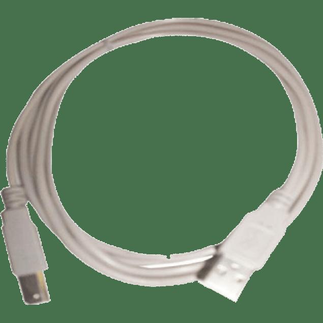 Cable USB A-/B 1.8 metros color gris.