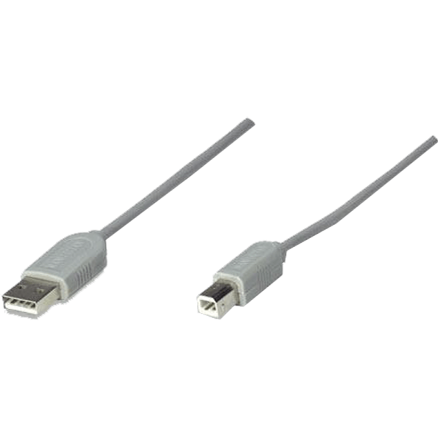 Cable USB A/B 4.5 metros color Gris.