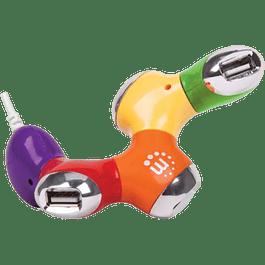Hub USB v2.0 4 puertos multicolor
