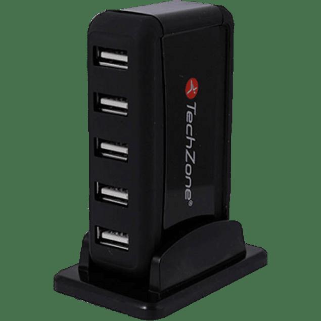 Hub USBTZ17HUB01, USB, color negro, de 7 puertos