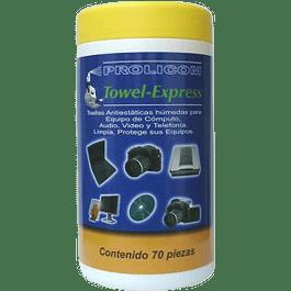 Toallas húmedas anti estáticas con 70 piezas