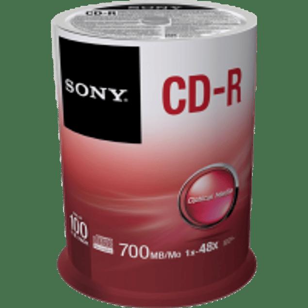 CD-R 700 mb - 80 minutos campana 100 piezas