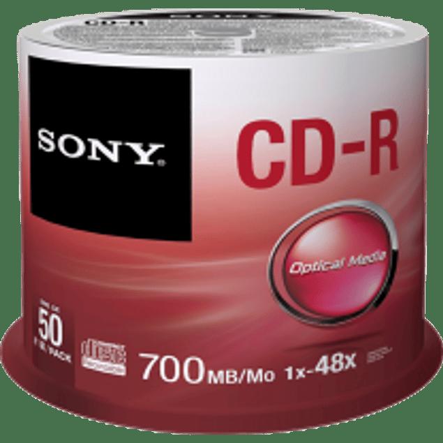 CD-R 700 mb -80 minutos campana 50 piezas