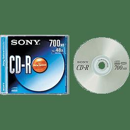 CD-R 700 mb -80 minutos 48x
