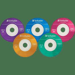 CD-R  Pocket 185 MB - 21 minutos Colors Slim Case