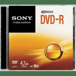 Disco DVD-R de 4.7gb - 120 minutos, 1 pieza