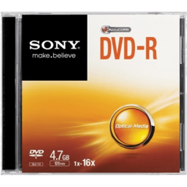Disco DVD-R de 4.7gb - 120 minutos, 1 pieza