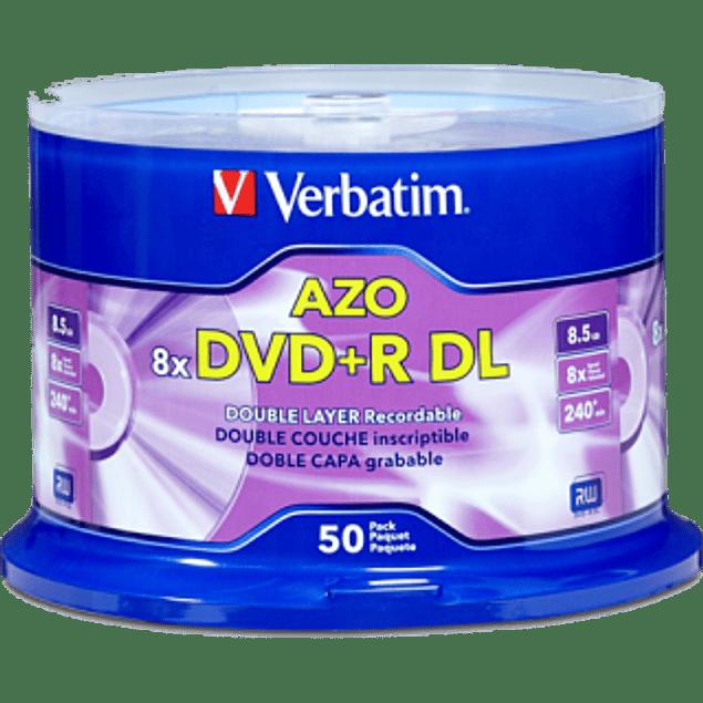 Disco DVD+R DL 8x de 8.5 gb torre con 50 piezas.