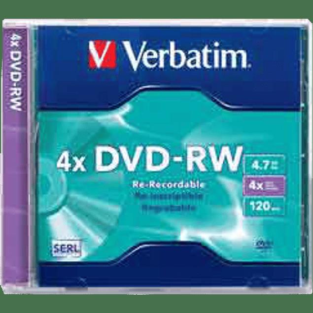 Disco DVD-RW 4.7 gb  re-escribible 4X.