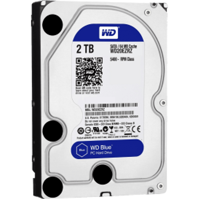 Disco duro interno blue 2 tb, sata, 3.5
