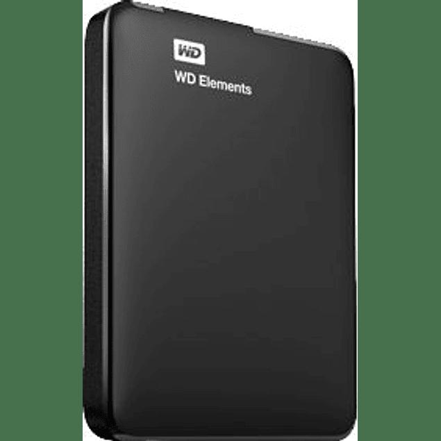 Disco duro externo elements portátil 2.5'', 2TB, USB 3.0, color negro