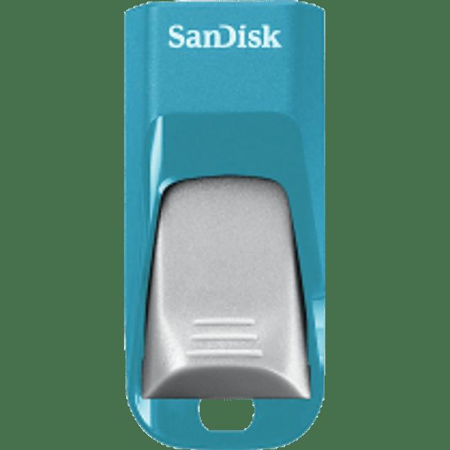 Memoria USB Cruzer Edge CZ51, de 16GB, USB 2.0, color Azul/Gris