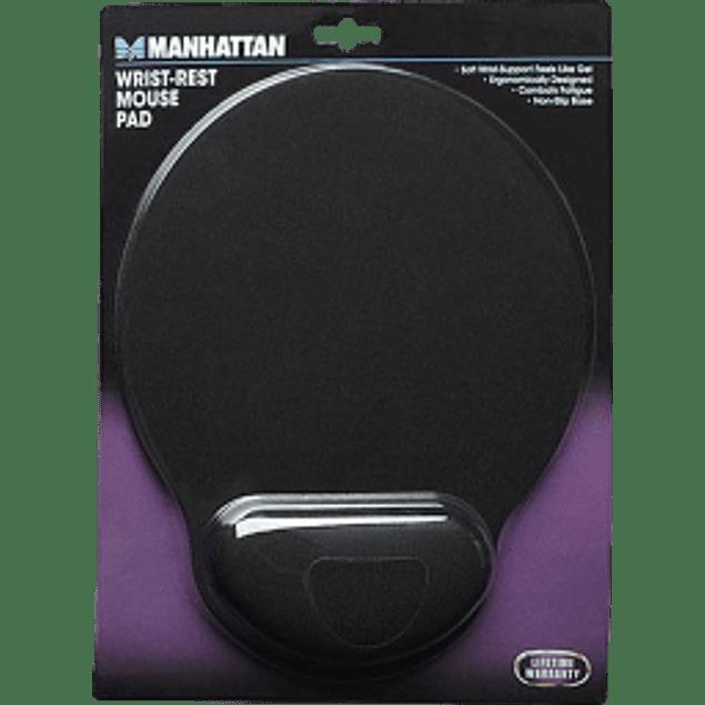 Mousepad ergonómico con descansa muñecas color negro.