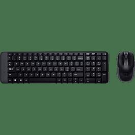 Kit de Teclado y Mouse inalámbrico MK220, estándar, color negro.